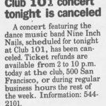 El Paso – January 7 1991