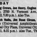 Los Angeles – October 7 1994
