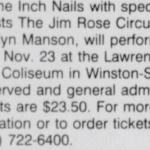 Winston-Salem – November 23 1994