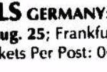 Koln – August 29 1991