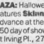 New York – October 31 1988