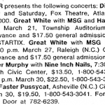 Raleigh – March 29 1990