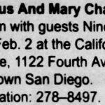 San Diego – February 02 1990