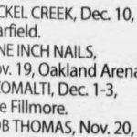 Oakland – November 19 2005