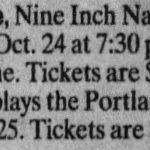 Portland – October 25 1995