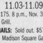 New York – November 03 2005