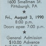 Pittsburgh – August 03 1990