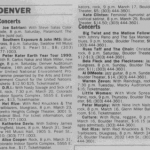 Boulder – March 16 1990