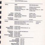 Saratoga – August 13 1991