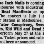 Melbourne – July 01 1990