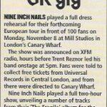London – November 09 1999